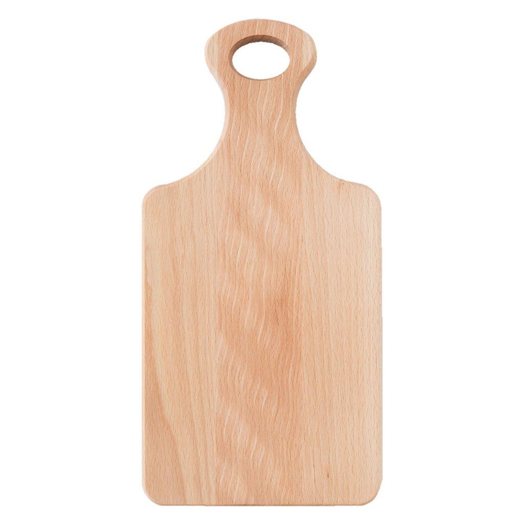 Drewniana Deska do Krojenia z rączką 34,5x17 - Buk