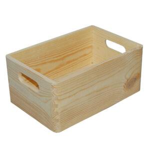Drewniana Skrzynka z uchwytami 30x20_b1