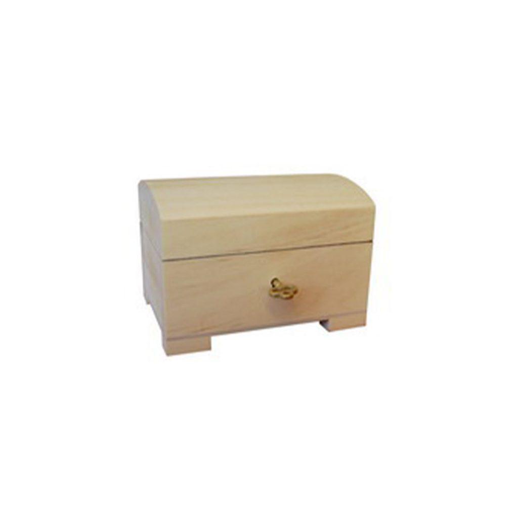 Drewniana Szkatułka zamykana z kluczykiem 10,6x7,5