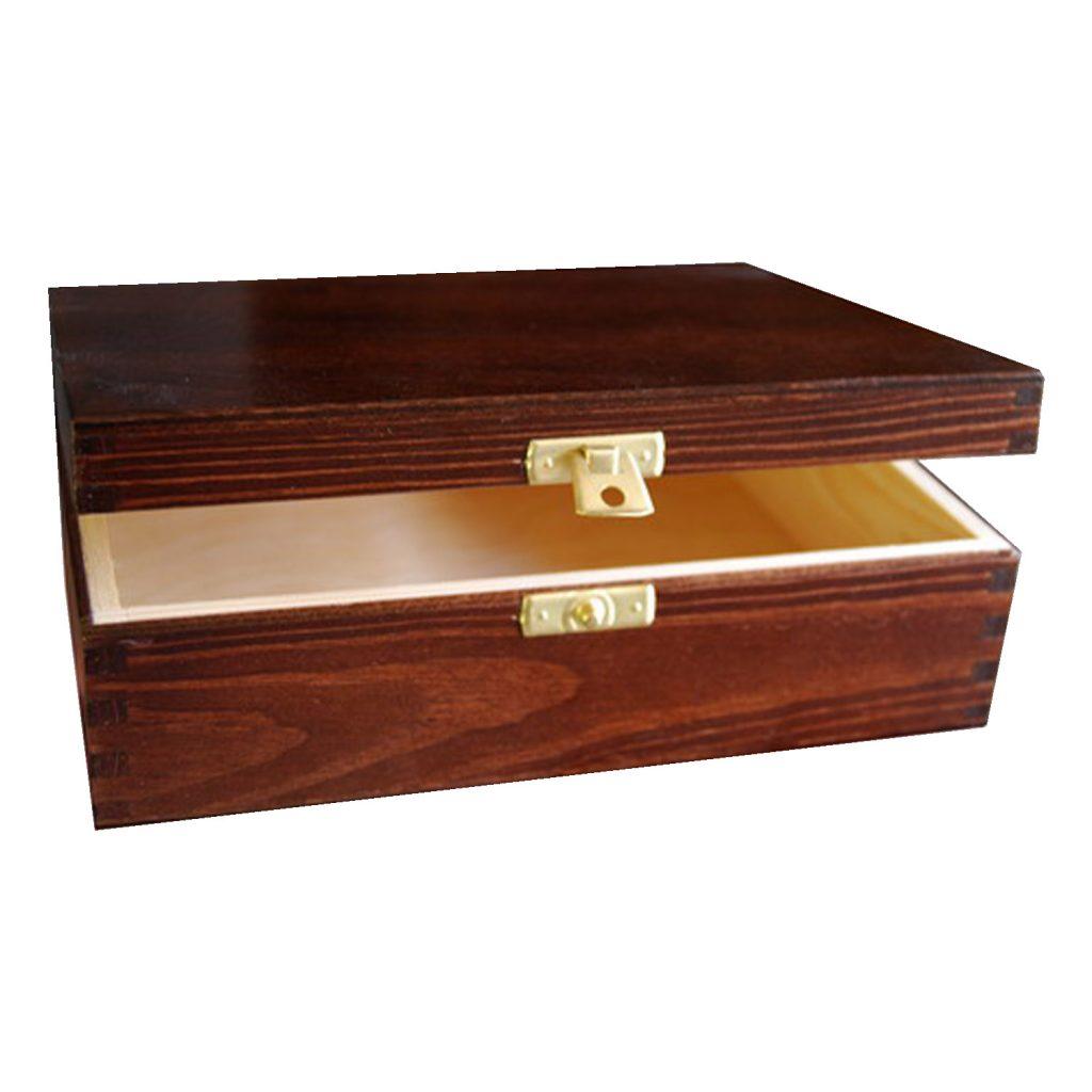 Drewniane Pudełko 21x16 brąz