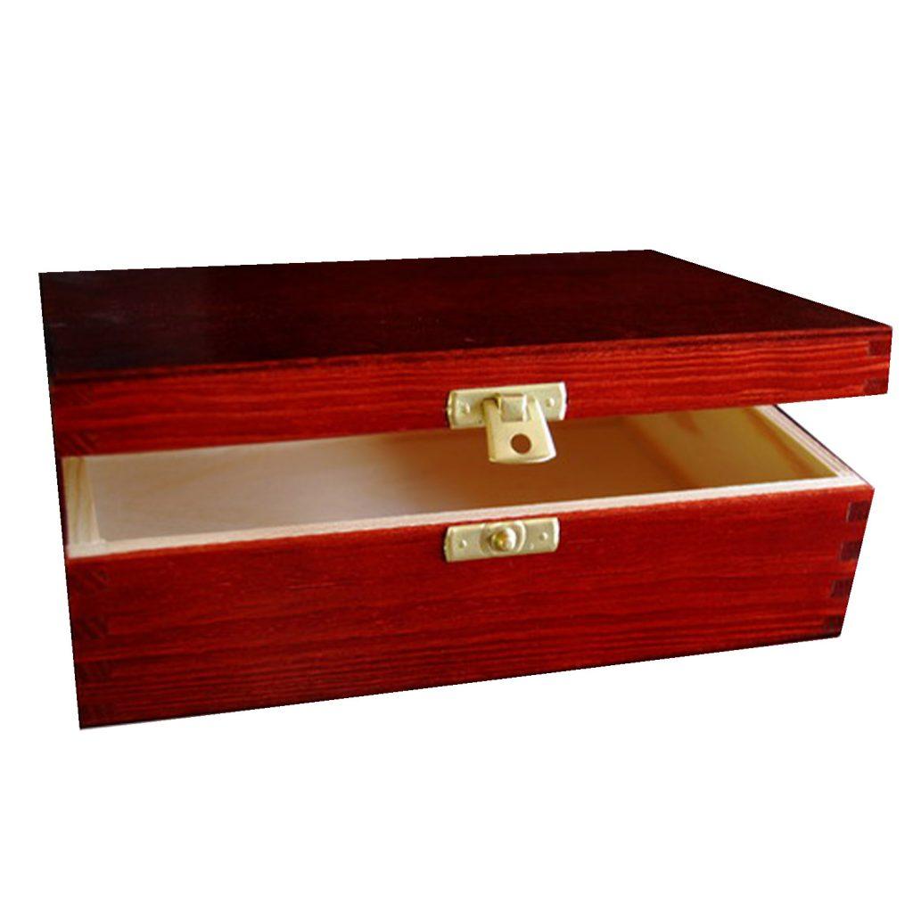 Drewniane Pudełko 21x16 mahoń