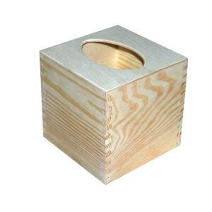 Drewniane Pudełko na chusteczki Małe-b1