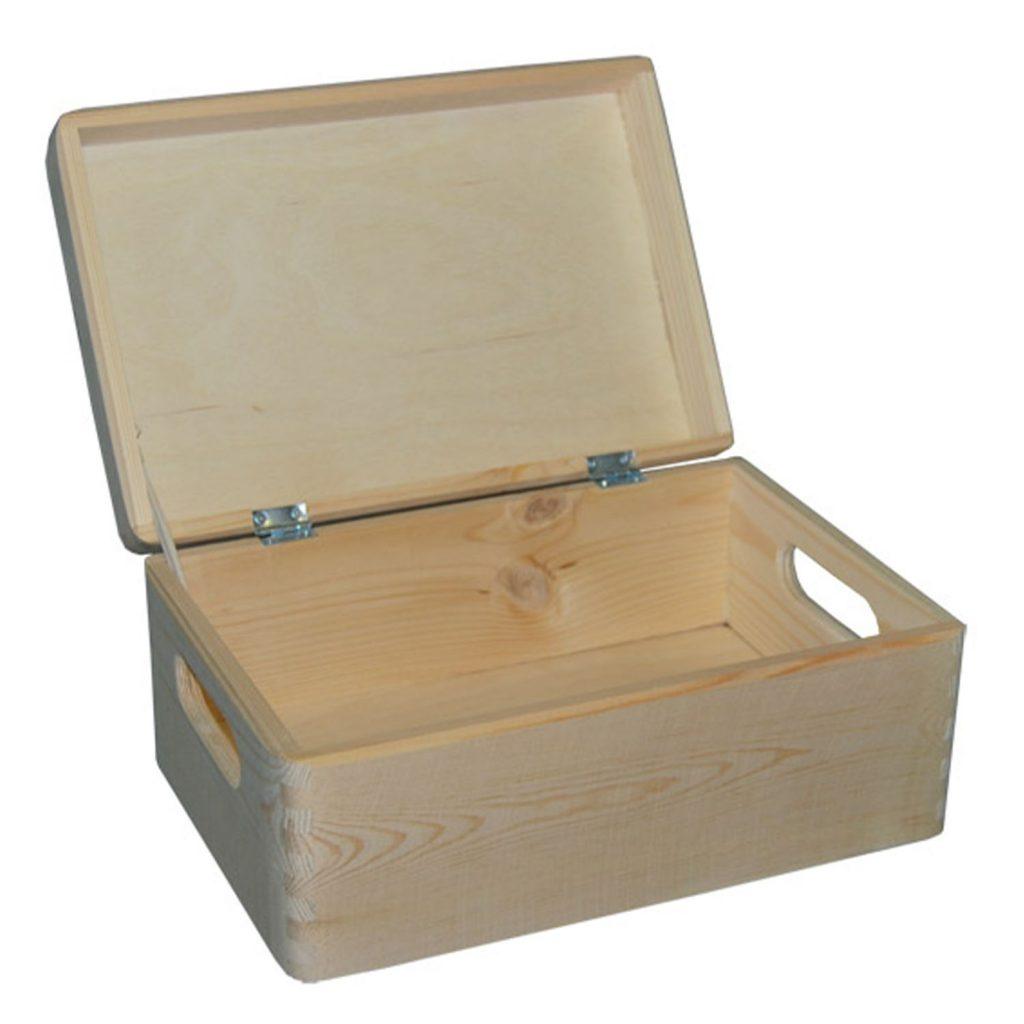 Drewniany Kufer z uchwytami 30x20