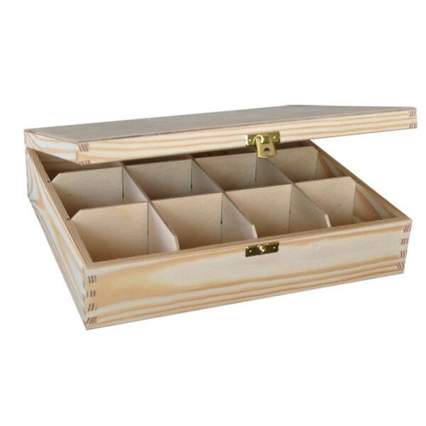 Pudelko drewniane z 12 przegródkami-b1