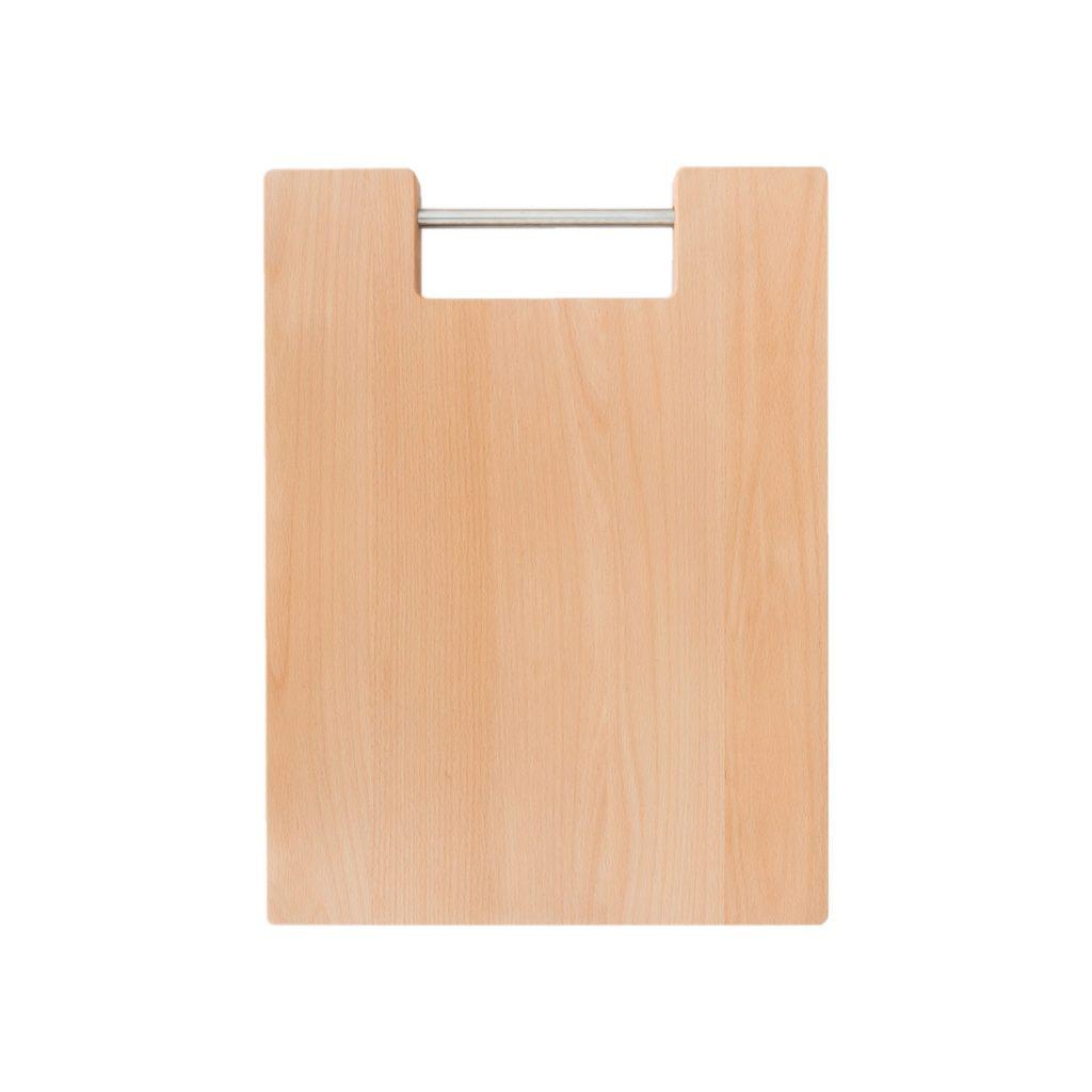 Drewniana Deska do Krojenia z metalową rączką 39,5x29,5 - Buk