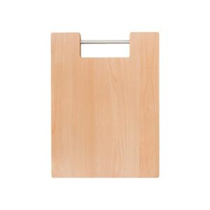 Drewniana Deska do Krojenia z metalową rączką 39,5x29,5 - Buk_b1