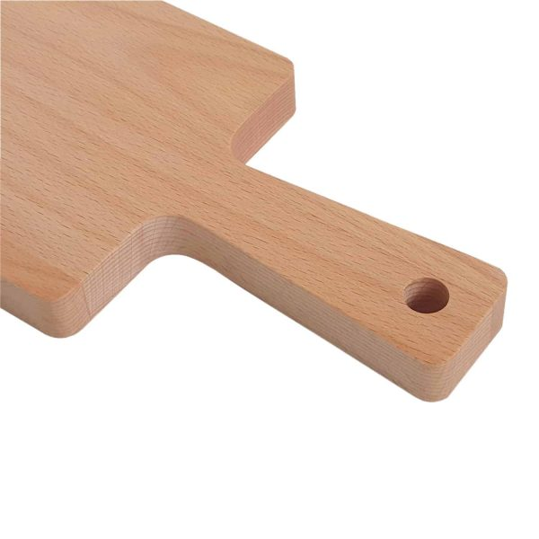 Drewniana Deska do Krojenia z rączką 39,5x13 - Buk_b2
