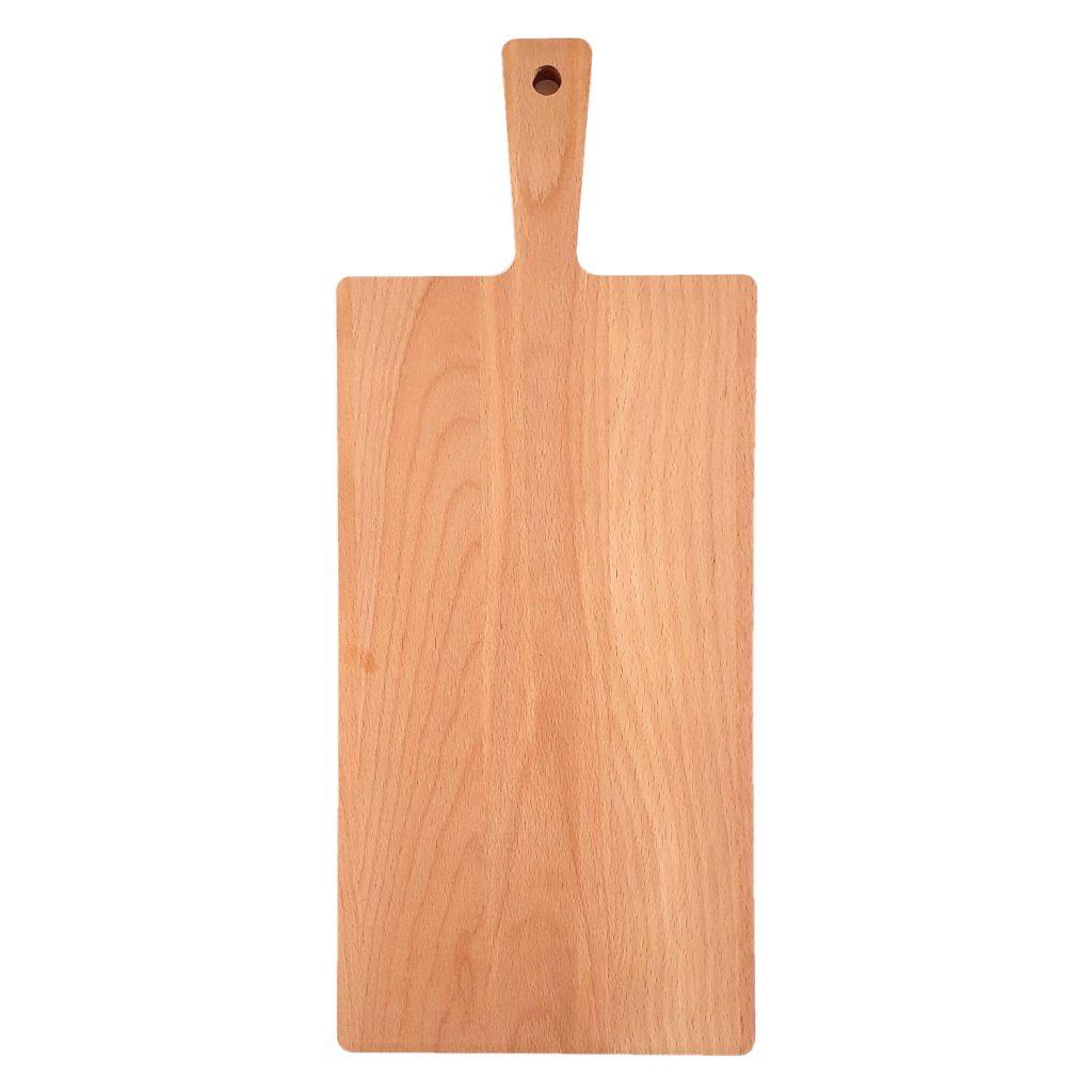 Drewniana Deska do Krojenia z rączką 48x20 - Buk
