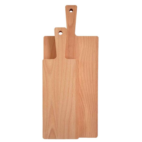 Drewniana Deska do Krojenia z rączką 48x20 - Buk_b3
