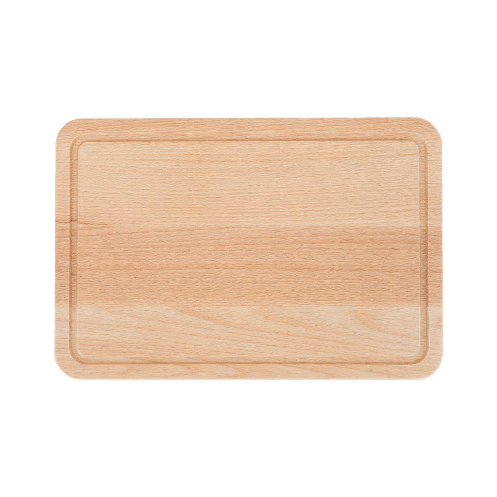 Drewniana Deska do Krojenia z rowkiem  30x20 - Buk