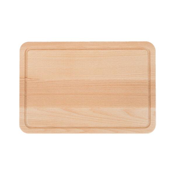Drewniana Deska do Krojenia z rowkiem 30x20 - Buk_b1