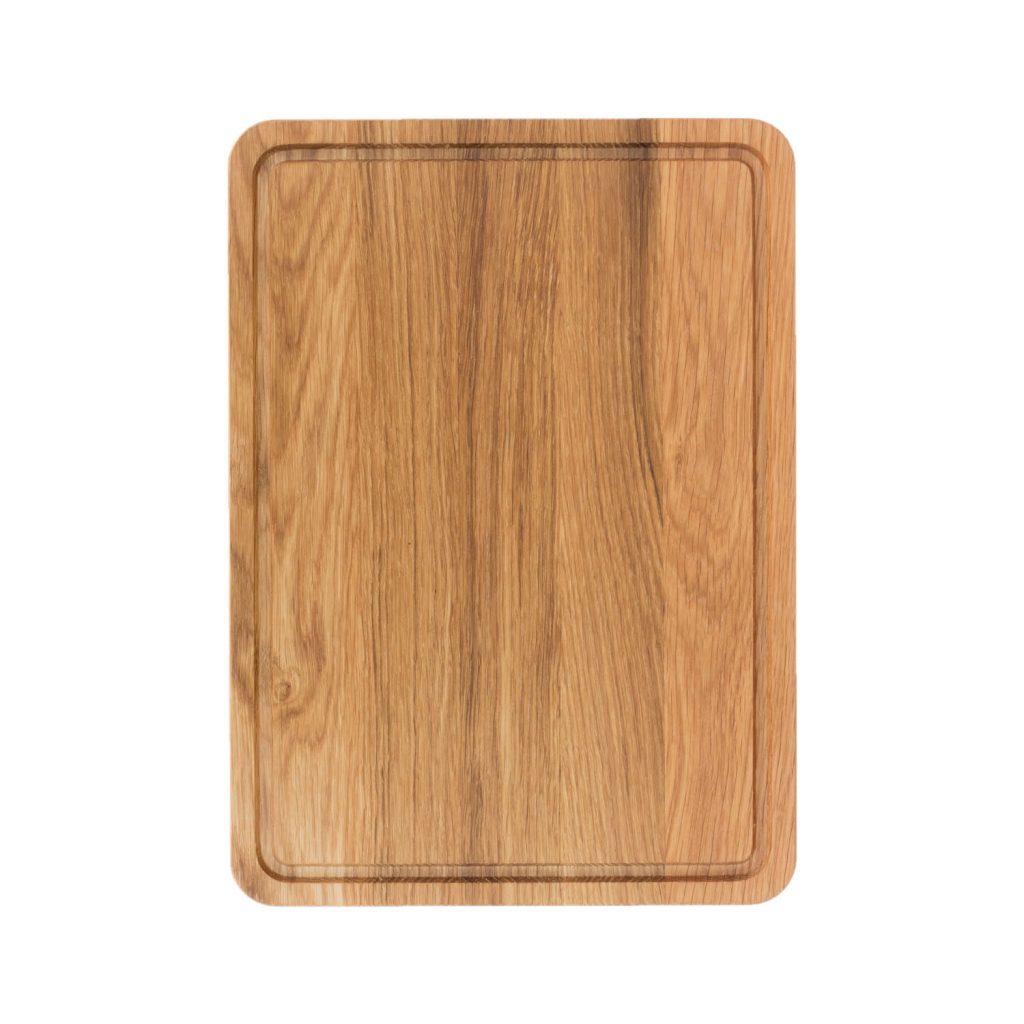 Drewniana Deska do Krojenia z rowkiem 35x25 - Dąb