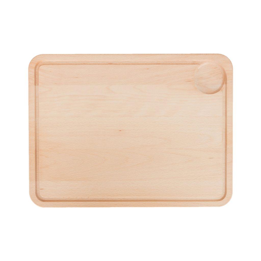 Drewniana Deska do Krojenia z rowkiem i dołkiem 40x30 - Buk