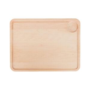 Drewniana Deska do Krojenia z rowkiem i dołkiem 40x30 - Buk_b1