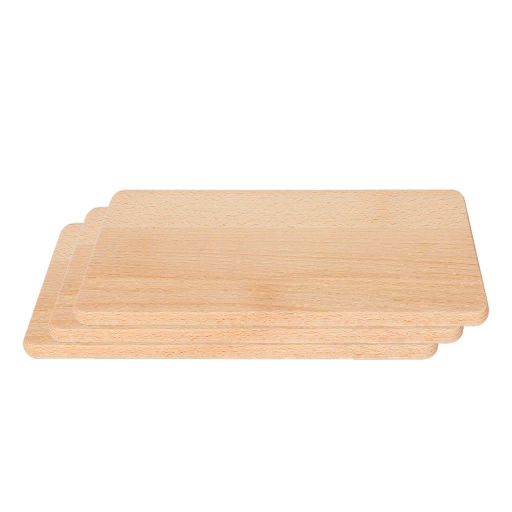 3 Drewniane Deski do Krojenia 24x15 małe - Buk