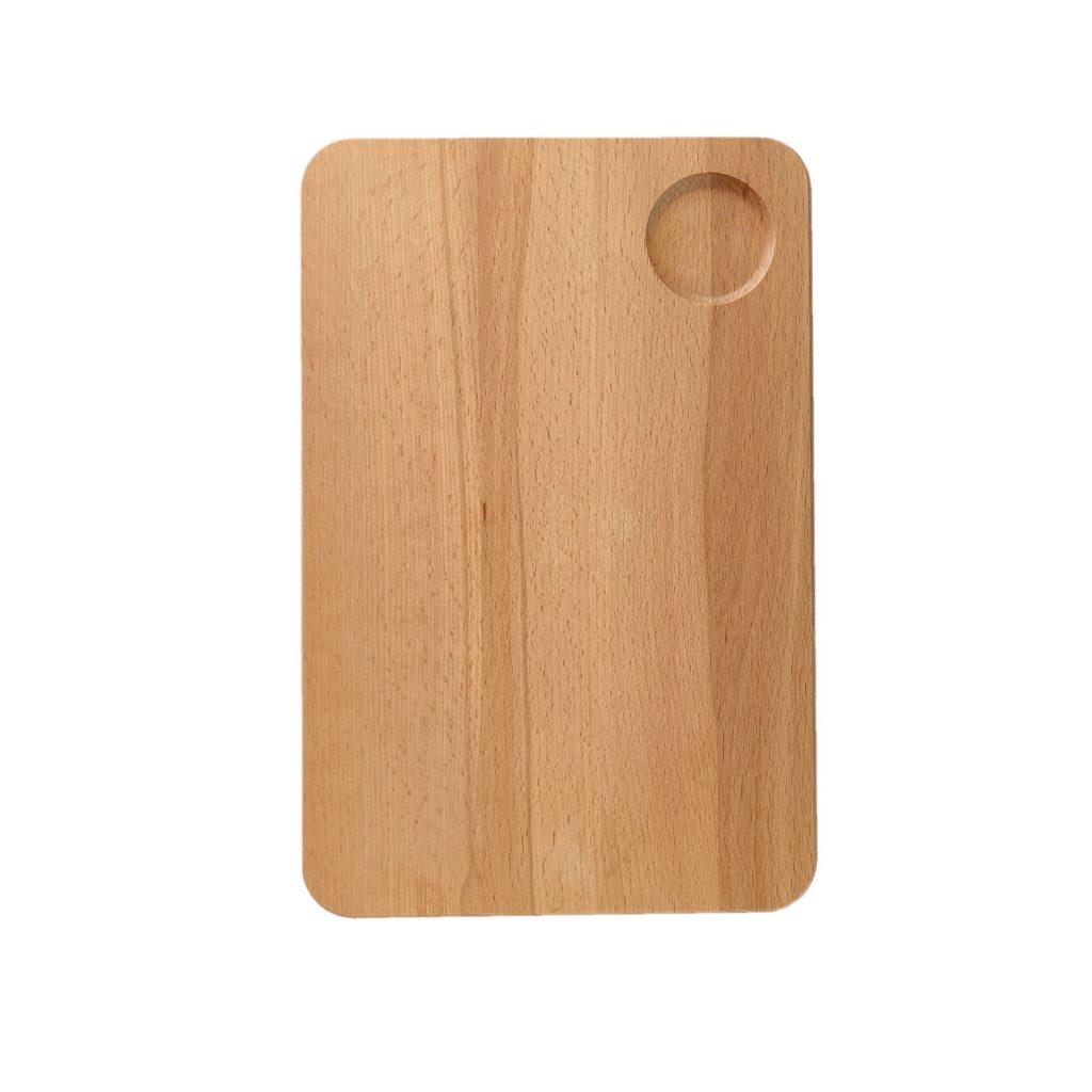 Drewniana Deska do Krojenia z dołkiem 30x20 - Buk