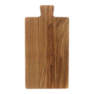 Drewniana Deska do Krojenia z rączką 32,5x17 - Dąb