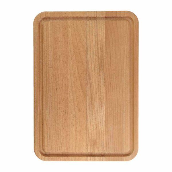 Drewniana deska do Krojenia z rowkiem (Blok) 34x24 - Buk_b1