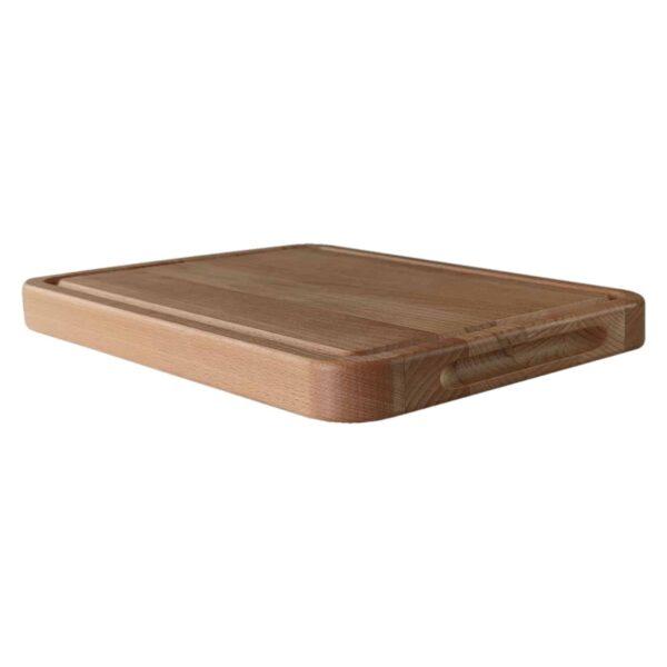 Drewniana deska do Krojenia z rowkiem (Blok) 34x24 - Buk_b3