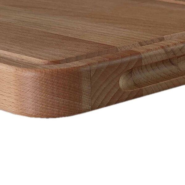 Drewniana deska do Krojenia z rowkiem (Blok) 34x24 - Buk_b4