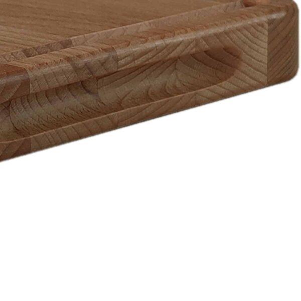 Drewniana deska do Krojenia z rowkiem (Blok) 34x24 - Buk_b5